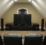 Attic Room Ideas Home Theater TV Installation