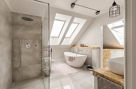 Bathroom Ideas with Mirror TV and Shower Speake NJ