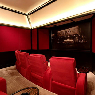 Home Theater Ideas Red Home Theater