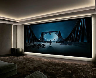 Home Theater Projection Screen in Austin