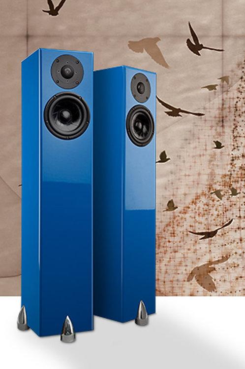 NJ Dealer Totem Sky Tower Blue Speakers Demo