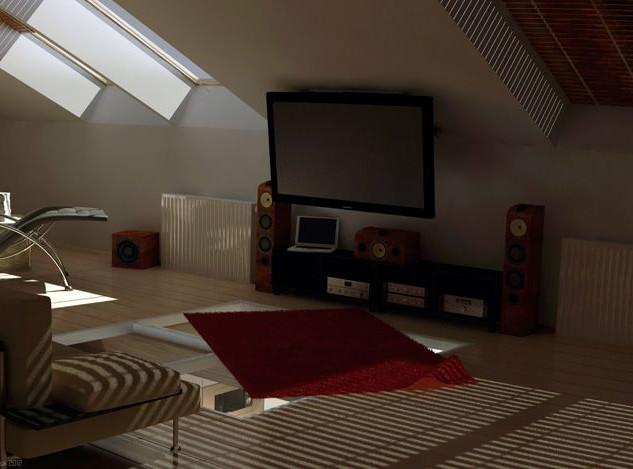 TV Installation Attic Room Ideas