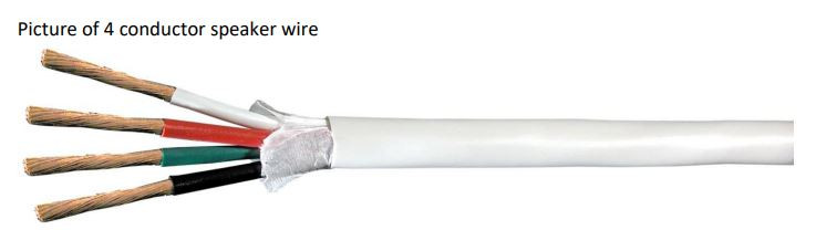 Diagram of 4 Conductor Speaker Wire In One Sheathing