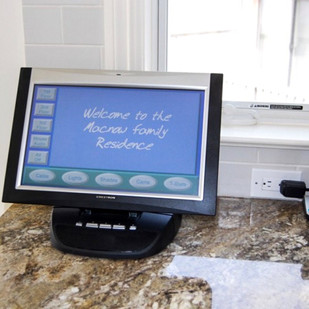 Crestron Home Touchscreen For NJ Kitchen Ideas