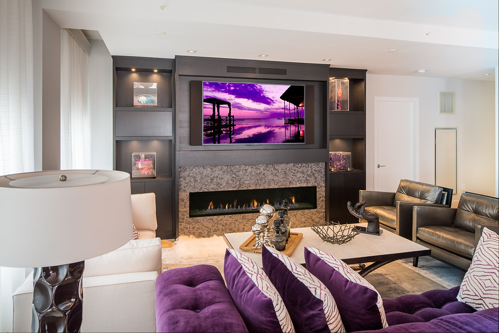 Example of a media room in New Jersey