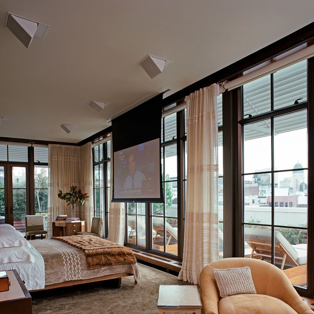Seagirt NJ Bedroom Surround Sound 4k Projection