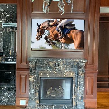 Fireplace TV Installation Long Island 1.