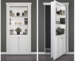 Hidden Door For A Home Theater Room in M