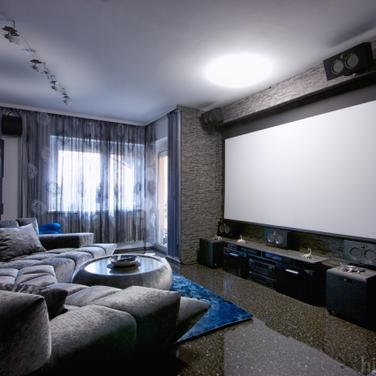 NJ Home Theater Basement Ideas