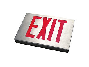 Brushed Aluminum NYC Approved Exit Sign Supplier