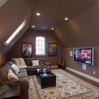 NJ Attic Room Ideas Surround Sound