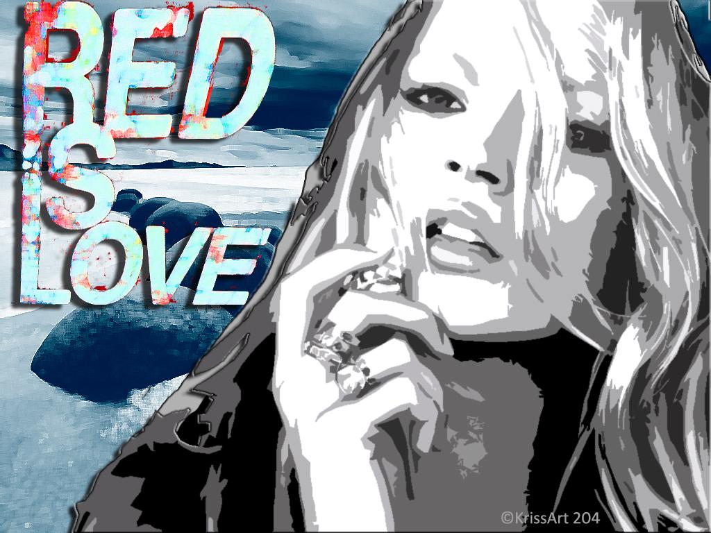 RED IS LOVE krissArt 2015