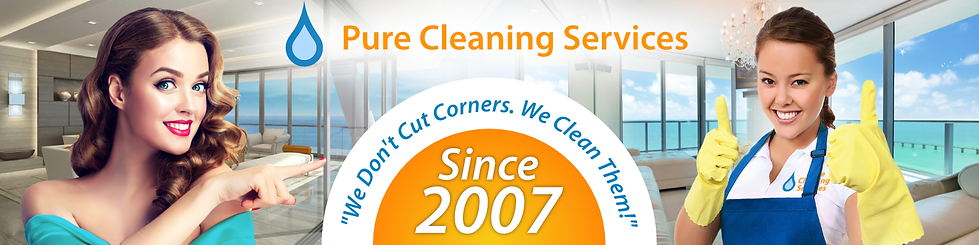 Pure Cleaning Services Banner for LinkedIn