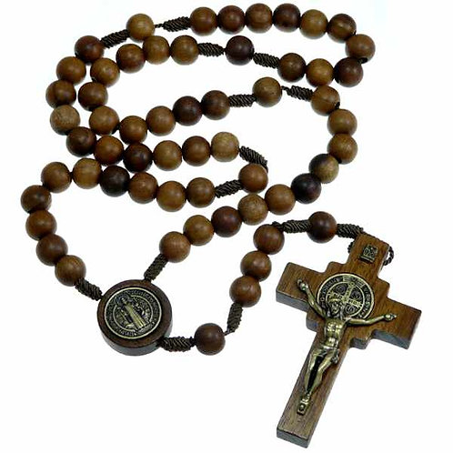 Wooden St. Benedict Rosary