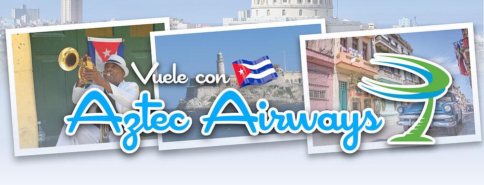 Vuele con Aztec Airways Social Banner