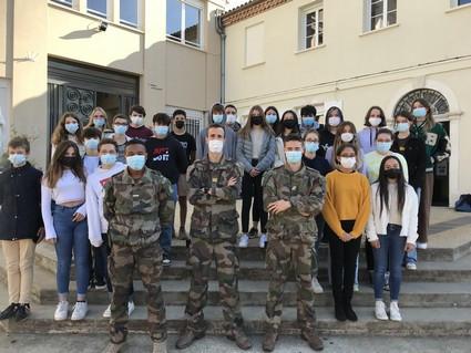 Intervention des Militaires du 48RT pour la classe CDSG: