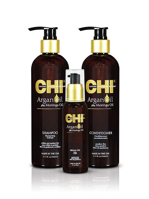 CHI LAVISH TRIO KIT ARGAN OIL + SHAMPOO + CONDITIONER