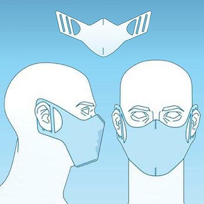1 cx. com 100 máscaras descartáveis TNT Azul ou Branco