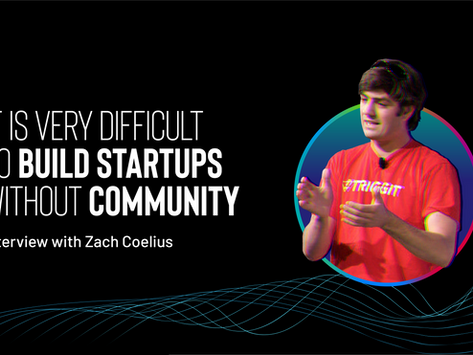 It is very difficult to build startups without community