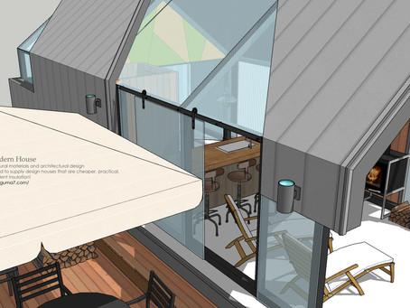"""오픈감있는 """"글랜핑 하우스"""" 디자인"""
