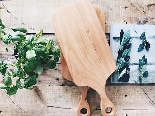 Serving board with handle, 47x19cm