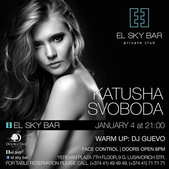 03/January - Katusha Svoboda @ EL SKY BAR, Yerevan, Armenia