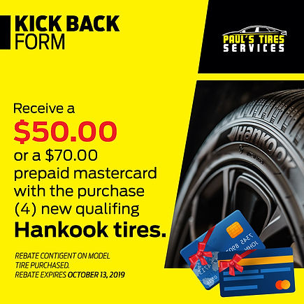 Coupon Hankook Tires | Paul's Tires Services | Miami Florida