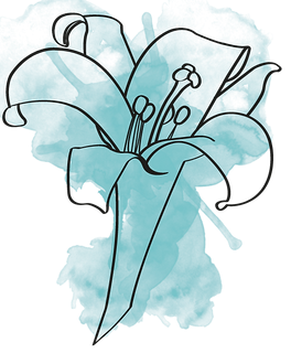 Blue Lily Watercolor