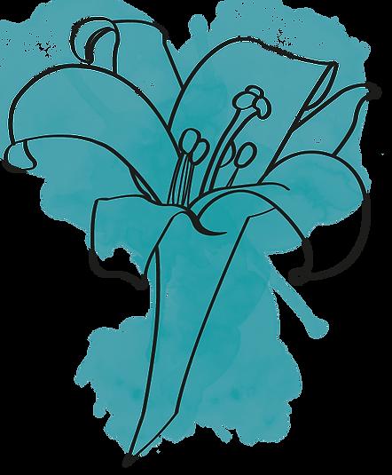 Bleu Lily Aquarelle