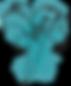 Lirio azul acuarela