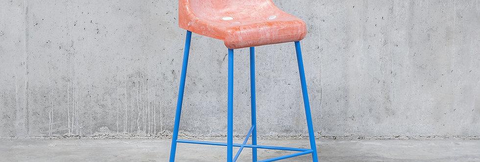 Tobia Zambotti |The Fan Stool / Pink Blue