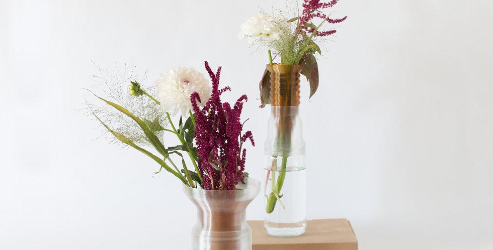Warren & Laetitia | Half-Vase mimo – Models 1 + 2 transparent amber