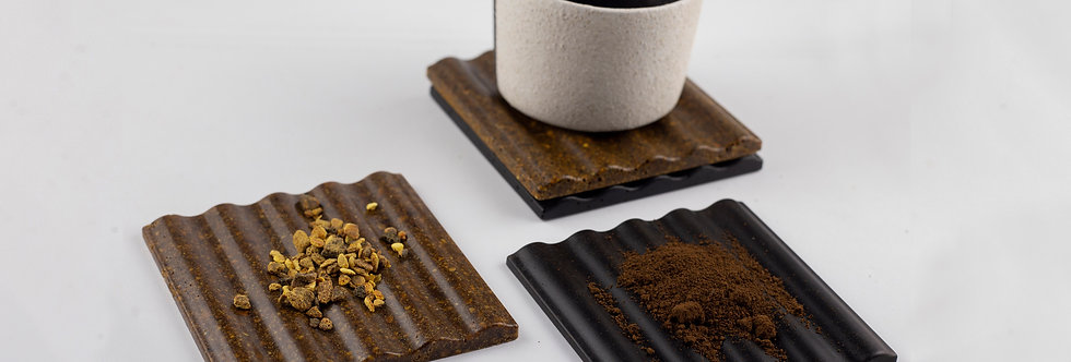Sustainable Coaster Set -  Composed of Coffee and Orange