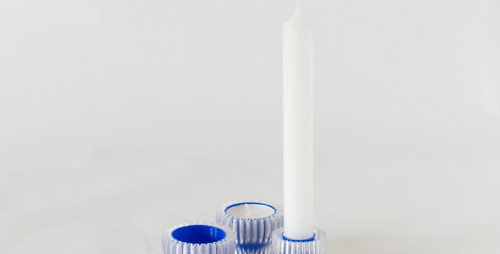 Warren & Laetitia | Double candle holder 2.20 - blue