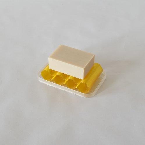 Warren & Laetitia   Soap dish Álvaro transparent yellow