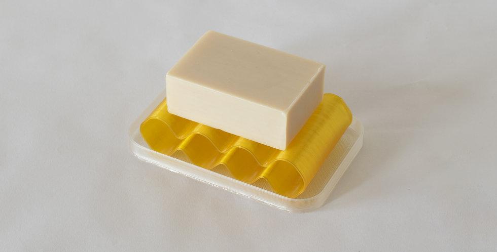 Warren & Laetitia | Soap dish Álvaro transparent yellow