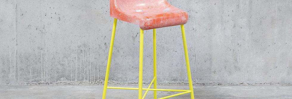 Tobia Zambotti |The Fan Stool / Pink Yellow