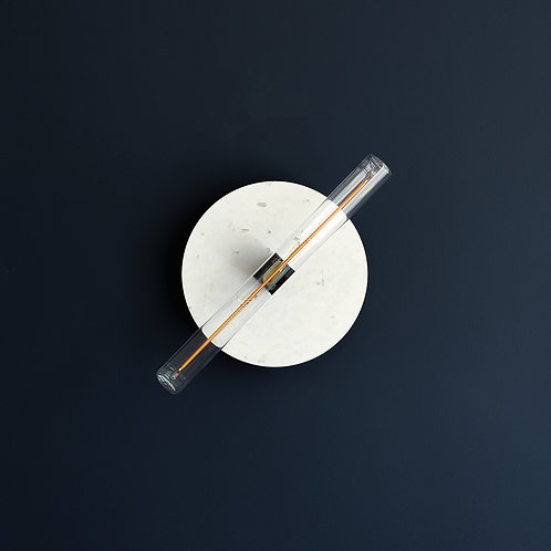Wisse Trooster | Circular Wall Lamp - Small white transparant