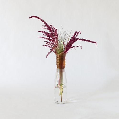 Warren & Laetitia | Half-vase mimo – Model 1  Transparent amber
