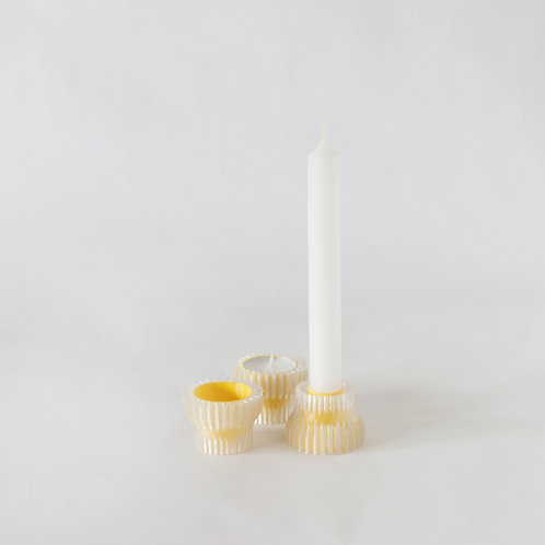 Warren & Laetitia | Double candle holder 2.20 - yellow