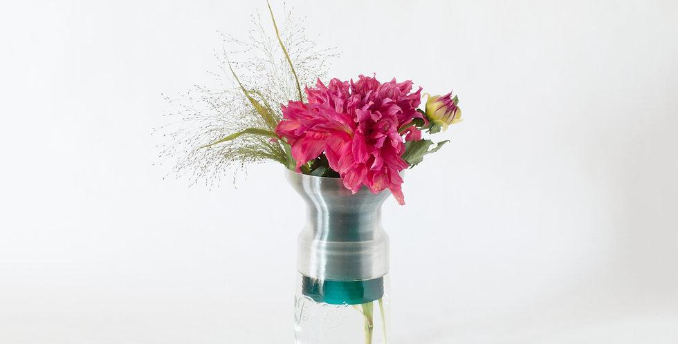 Warren & Laetitia | Half-Vase mimo – Model 2 transparent green