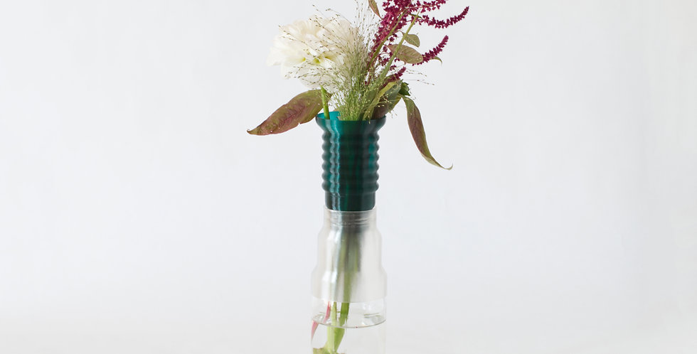 Warren & Laetitia | Half-Vase mimo – Model 1 Transparent green