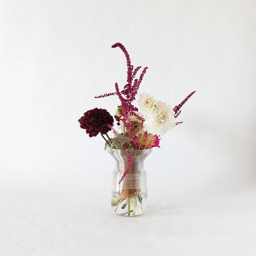 Warren & Laetitia | Half-Vase mimo – Model 2 transparent amber