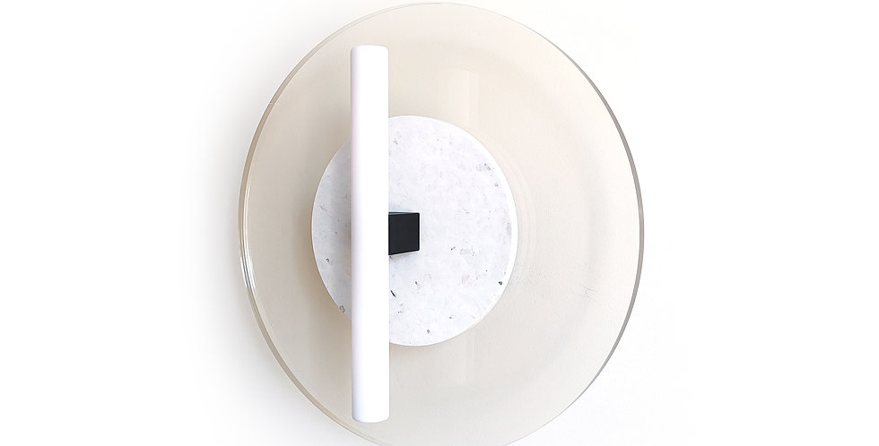 Wisse Trooster | Circular Wall Lamp - Duo white opaque