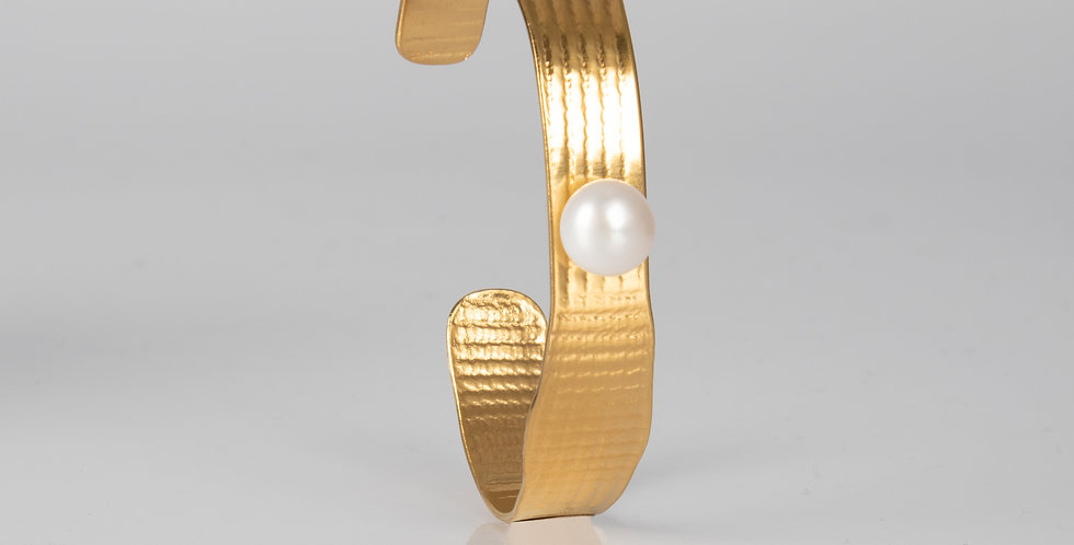 Tweek | PRESSED bracelet gold, with pearl