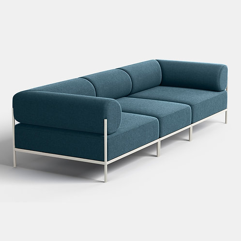 Noah Living | 3 seater with white frame