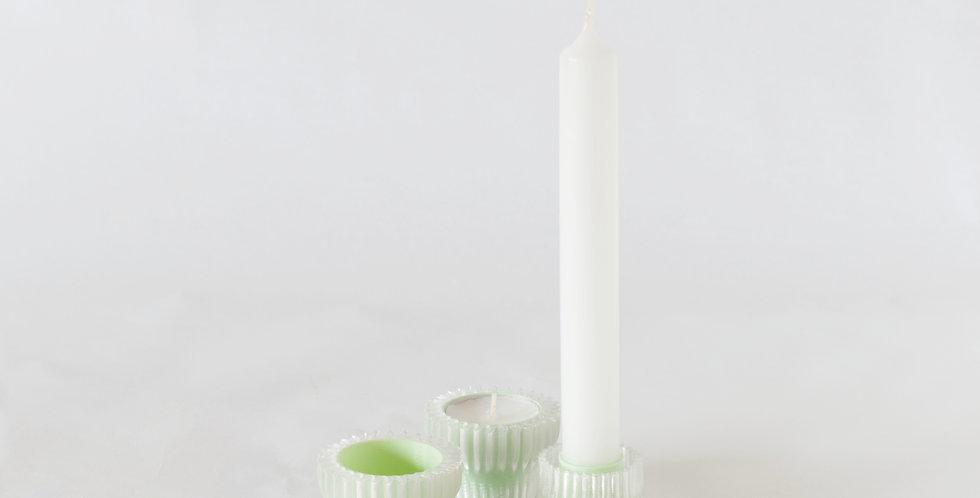 Warren & Laetitia | Double candle holder 2.20 - green
