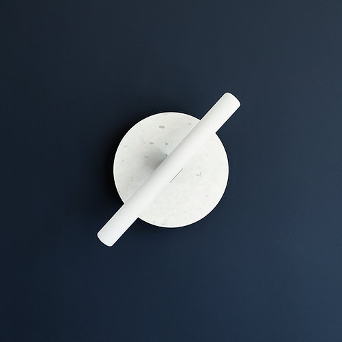 Wisse Trooster | Circular Wall Lamp - Small white opaque