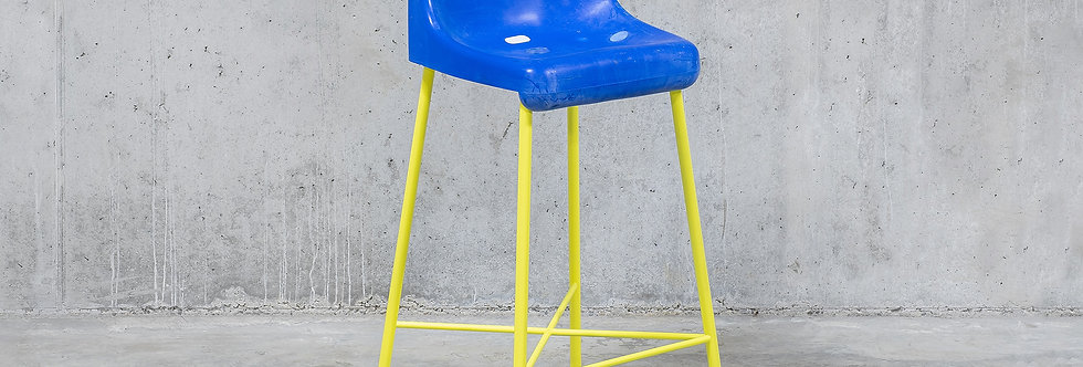 Tobia Zambotti |The Fan Stool / Blue Yellow