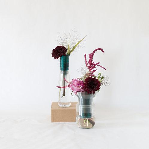 Warren & Laetitia   Half-Vase mimo – Models 1 + 2 transparent green